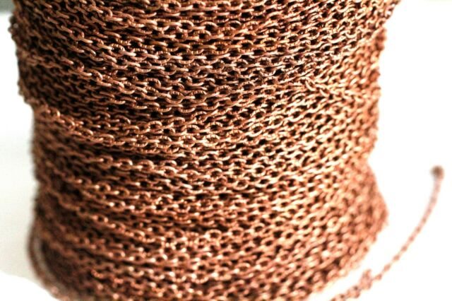 10ft 3x2mm Red Copper Cable Chain links-unsoldered 1-3 day Shipping