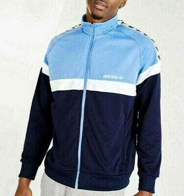 LG adidas Originals MEN'S ITASCA TREFOIL TAPE TRACK JACKET BLUE LAST1 | eBay