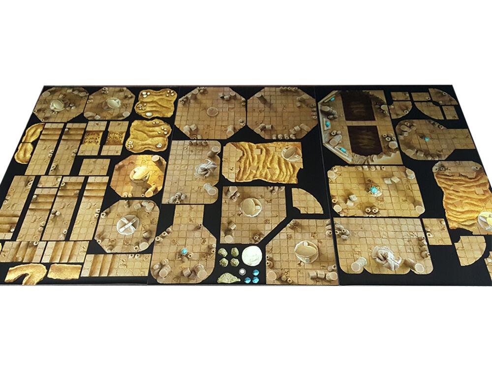 Modular RPG Desert Dungeon Set, gaming mat dnd D&D roleplaying board rpg terrain