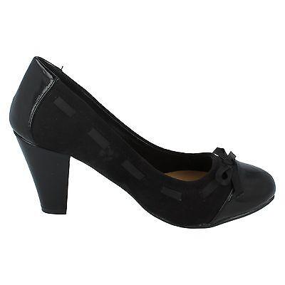 Mujer Spot On NEGROS SIN CIERRES DE SALÓN Zapato f9880