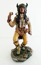 "7.5"" Native Indian Statue Figure Figurine Warrior Indio American North Decor"