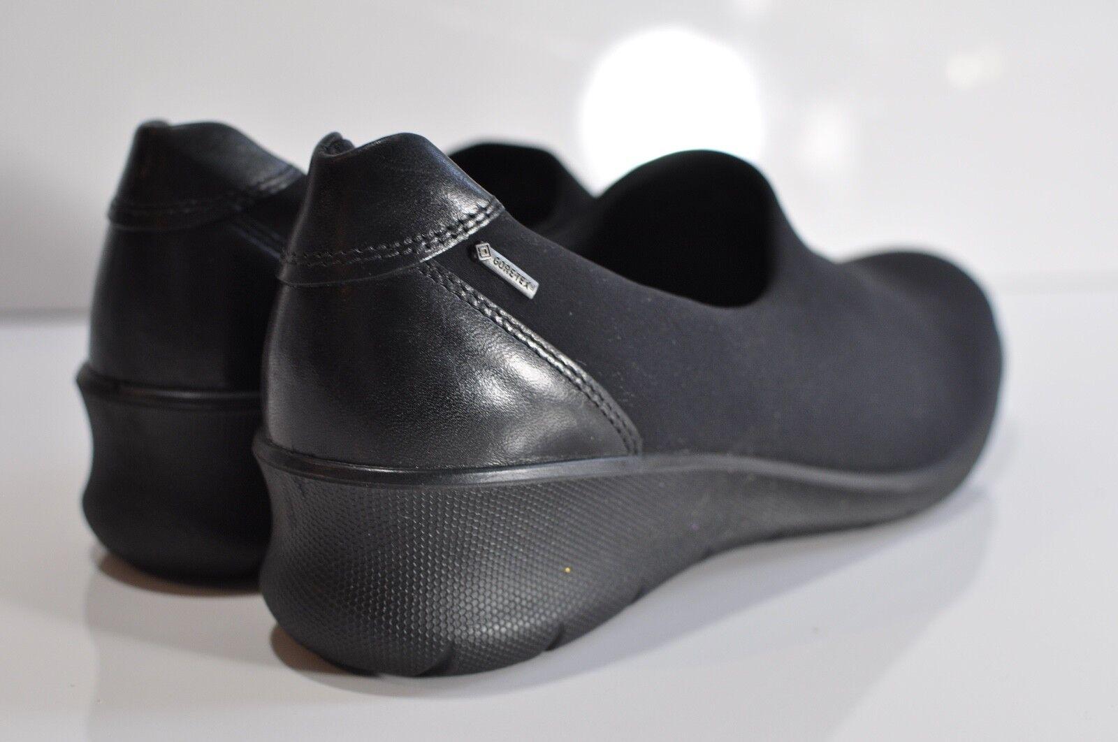 ECCO Gore-Tex Womens slip on shoes black size EU 41