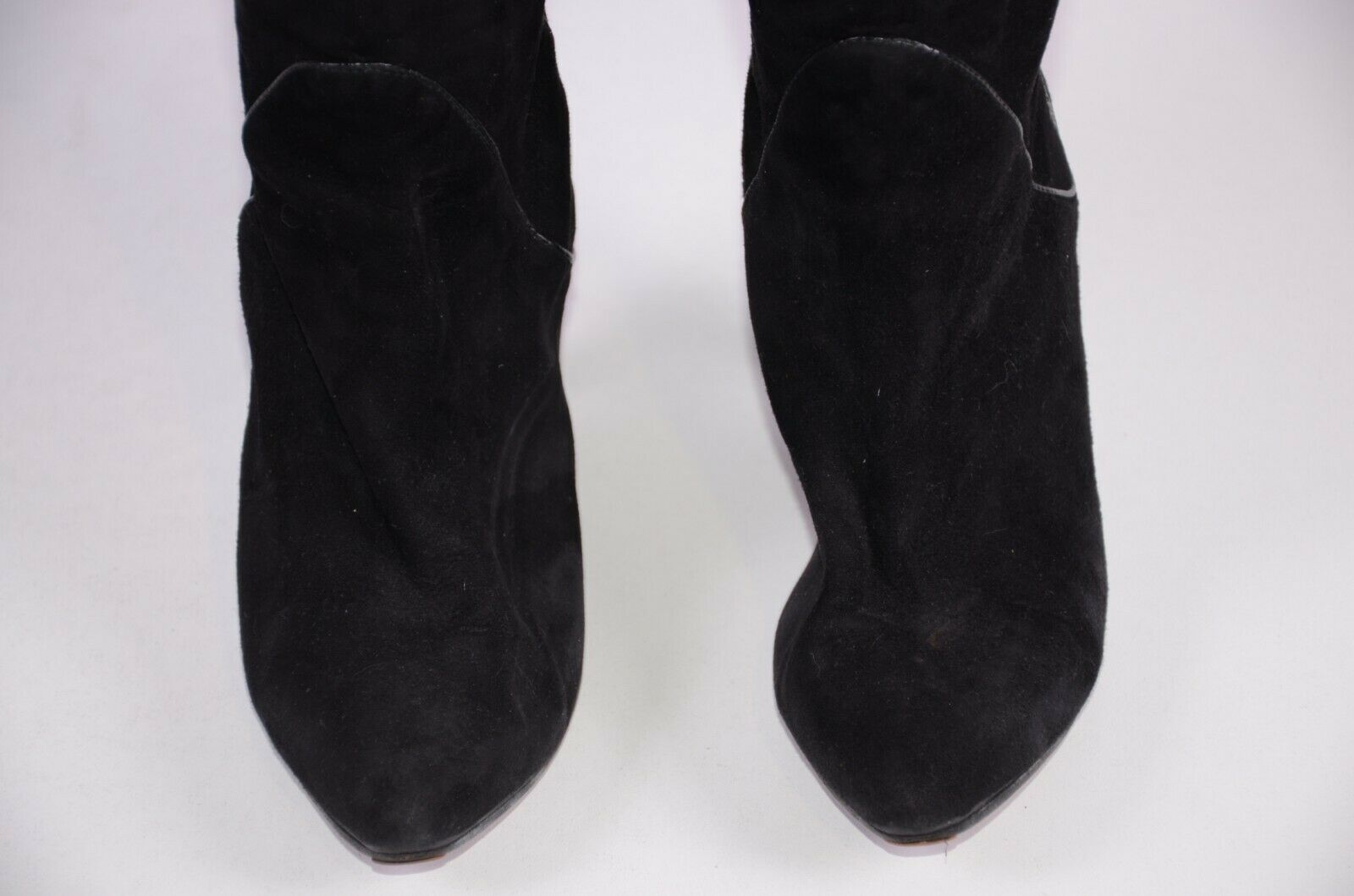 Unbranded Women's Thigh High Suede Boots Boots Boots Size 37  Black Kitten Heel 6.5 US 291c5d