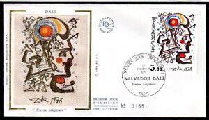 FRANCE-FDC-2067-1-TABLEAU-DALI-1979-sur-soie