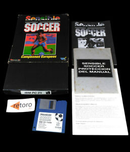 SENSIBLE-SOCCER-PC-3-5-034-Disk-Big-Box-1992-Sensible-Software-Ed-Espanola