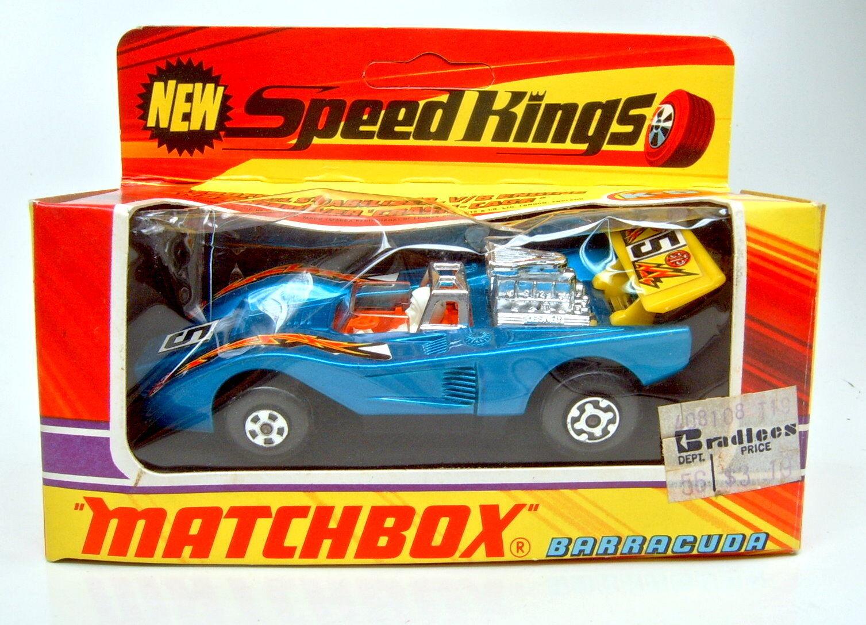 MATCHBOX Superking K -51 BARRACUDA MET. BLU ARANCIONE raffrontata. Top in box