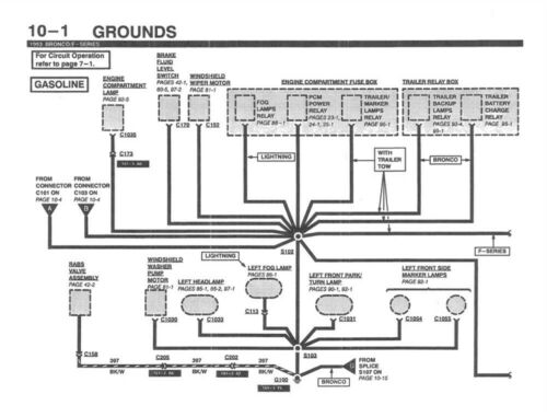 1993 Ford F150-F350 Truck Electrical Vacuum Diagnostic Service ...