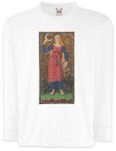 Tarot-Arcanum-Sun-Kinder-Langarm-T-Shirt-Card-Logo-Die-Sonne-The-Karte-Karten