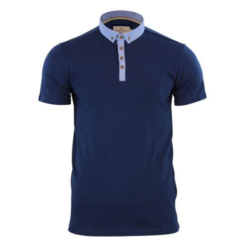 Polo pour Homme T Shirt Brave Soul Glover Coton Avec Col Haut Décontracté Manche Courte