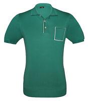 Kiton New Men's Green Cotton Polo Shirt Short sleeve, size S, M, 2XL