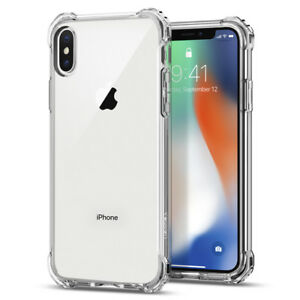 sports shoes 2dac4 8885d Details about For Apple iPhone X / XS   Spigen® [Rugged Crystal] Corner  Bumper Shockproof Case