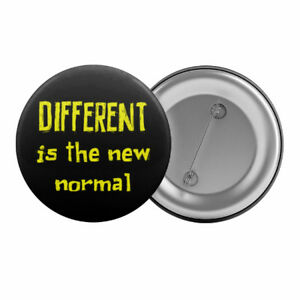 Different-Is-The-new-Normal-Badge-Button-1-25-034-32mm-Asperger-039-s-Syndrome-Slogan