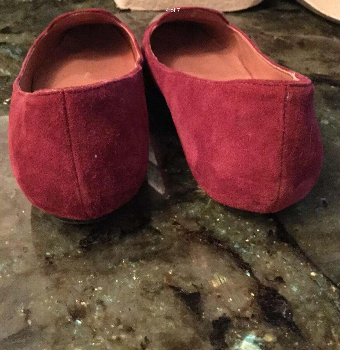 Sigerson Morrison - Walda - Cap Toe Ballet Flats - Walda WINE  Leather -Size 7,5 ccd3ce