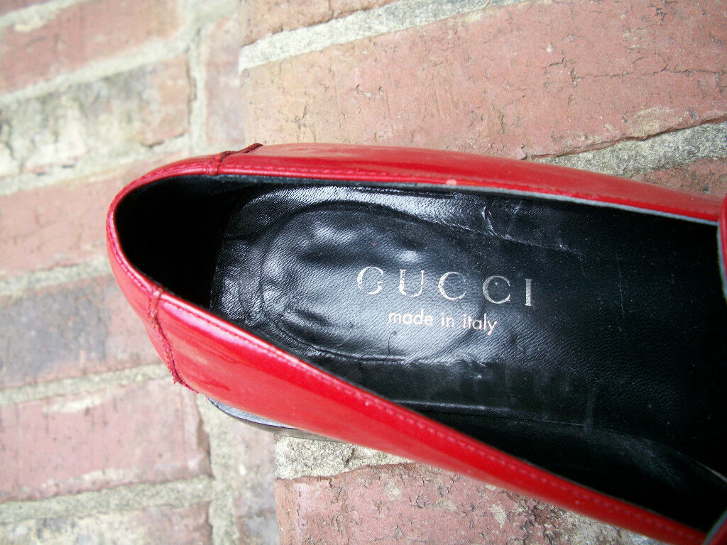 AUTHENTIC VINTAGE GUCCI LIPSTICK RED SHINY PATENT… - image 7