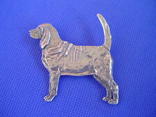 Pewter Bloodhound Pin Standing #80A Pewter dog jewelry by Cindy A. Conter