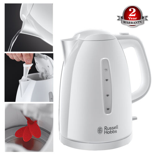 Russell Hobbs 21270 High Quality Texture Plastic 1.7 Litre Kettle 3000W White