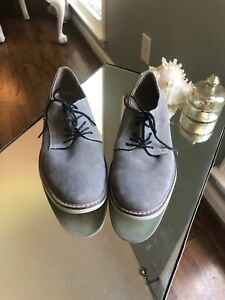 Banana Republic Gray Suede Loafers Men Size 10 1/2