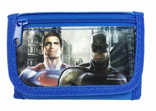 Batman vs Superman Wallet Blue Children Boys Girls Wallet Kid Cartoon Coin Purse