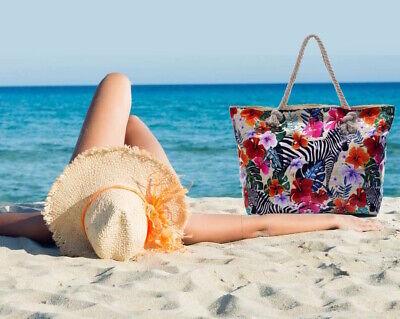 Perseverando Borsa Donna Mare Piscina Spiaggia Fantasia Tropicale Fiori Floreale Grande Maxi Vendite Economiche 50%