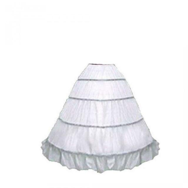 MEGA FULL COTTON 6-HOOP BONE CIVIL WAR RENAISSANCE COSTUME PETTICOAT SKIRT SLIP
