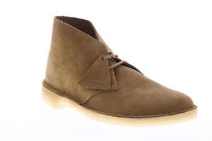 Clarks-Desert-Boot-26148536-Uomo-Marrone-Pelle-Nabuk-Mid-Top-Desert-Boots