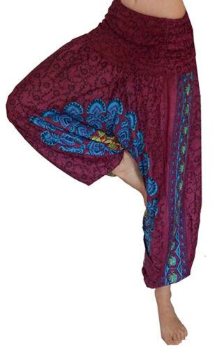 Mandala Haremshose weite Yoga Hose rot blau 34 36 38 40 S M L Boho Psy Hippie