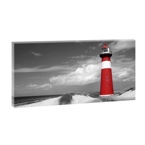 311 Bilder von Querfarben  Poster  Leinwand  XXL 160cm*80cm Leuchtturm sw rot