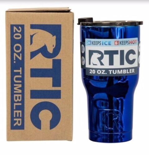 RTIC 30 oz environ 566.98 g ET 20 OZ environ 850.47 g verres à eau 2018 Limited Série Edition Metallic avec SP Couvercle