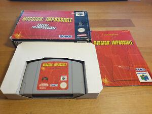 Mission Impossible Nintendo 64 n64 pal OVP cib #2