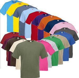 FRUIT OF THE LOOM T-Shirt Valueweight kurzarm S M L XL XXL 3XL 4XL 5XL (A) FOL