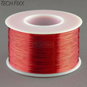 Magnet wire 28 gauge awg enameled copper 1000 feet coil winding 155c image is loading magnet wire 28 gauge awg enameled copper 1000 greentooth Choice Image