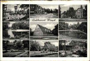 Wingst-s-w-Mehrbild-AK-1950-Forsthaus-Fischteich-Deutscher-Olmyp-Gasthaus-uvm