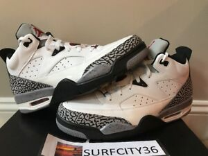 the best attitude 2d807 3c903 Image is loading AIR-JORDAN-SON-OF-LOW-WHITE-CEMENT-SPIKE-