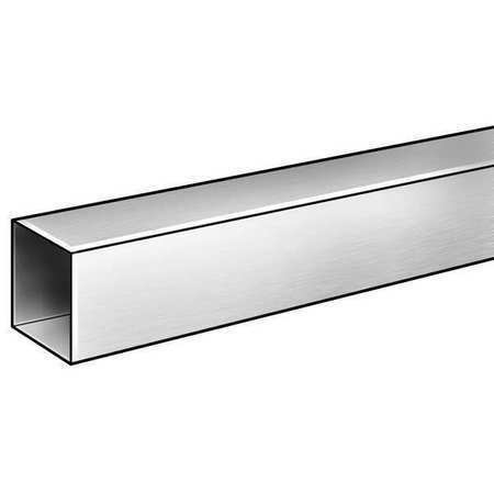 "6063 Alloy Type Aluminum 6 ft L. 7//8/"" ZORO SELECT 6ALR6 Tubing Square"