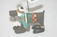 Williraye Studios Folk Art Christmas Ornament Dog Chocolate Lab w/ Snowflake NEW