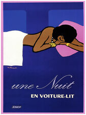 "18x24""Decoration Poster.Interior room design art.Une Nuit Voiture lit.6629"