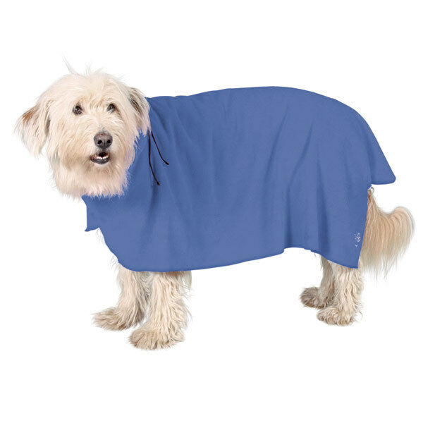 NEW - Dog Towel Bathrobe Blue All Sizes For All Dogs