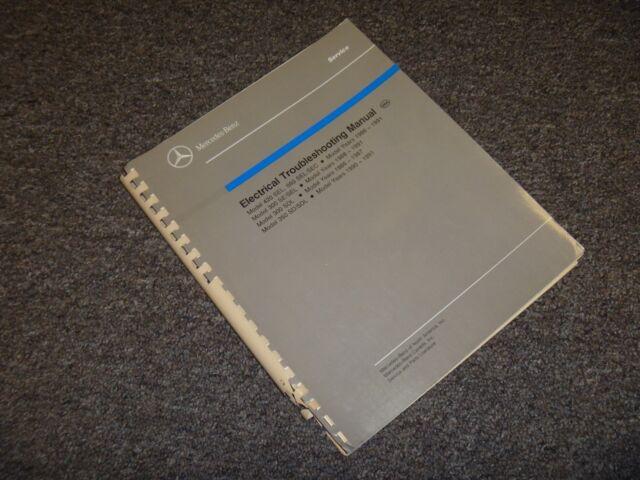 1988 1989 Mercedes Benz 420sel 560sel 560sec Electrical