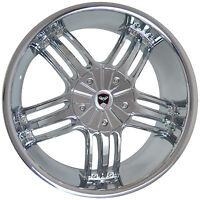 4 Gwg Wheels 20 Inch Chrome Spade Rims Fits 6x120 Et38 Cadillac Srx 2011