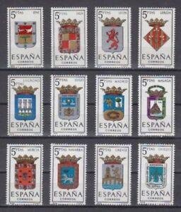 ESPANA-1964-MNH-NUEVO-SIN-FIJASELLOS-SPAIN-EDIFIL-1551-62-ESCUDOS