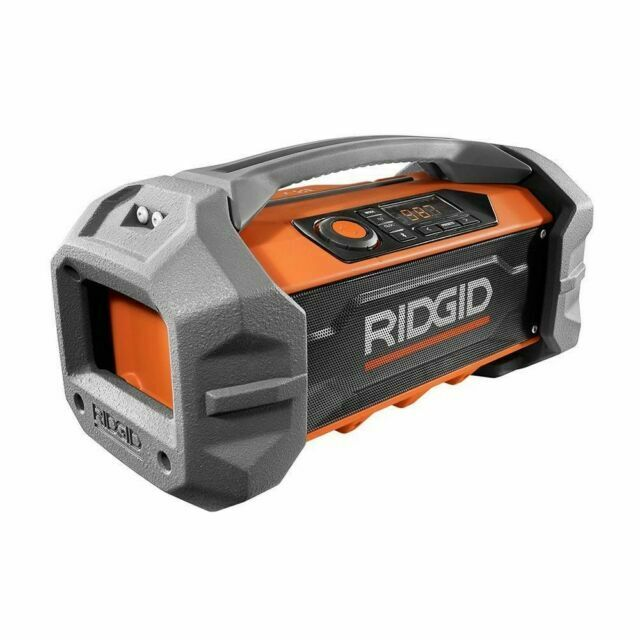 RIDGID R84087 Jobsite Radio Speaker Bluetooth Wireless Stereo Boom Box ZX501