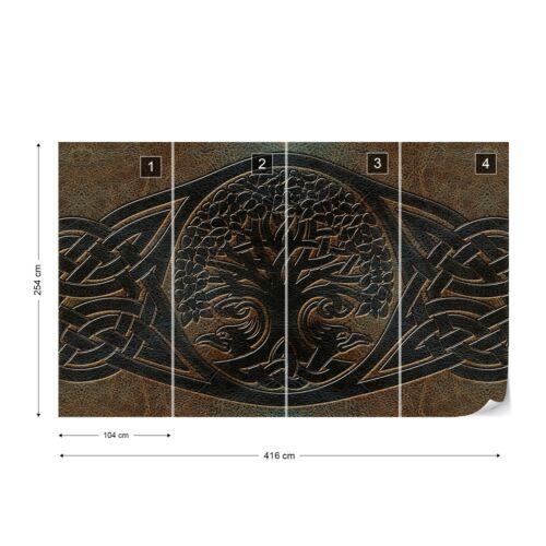 Celtic Design Photo Wallpaper Wall Mural Fleece Easy-Install Paper