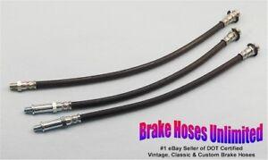 BRAKE-HOSE-SET-American-Motors-Rambler-Classic-1963-Late-6cyl-Drum