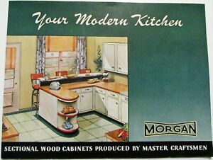 Ca 1946 Morgan Wood Cabinets For Your Modern Kitchen Catalog Oshkosh Wisconsin Ebay