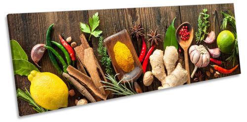 Imagen De Cocina Cocinar Verduras panorama LONA pared arte impresión