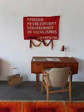 DFD. GR. z. XI. PARTEITAG SED Wandteppich BERLIN 80er DDR Teppich 80s Souvenir
