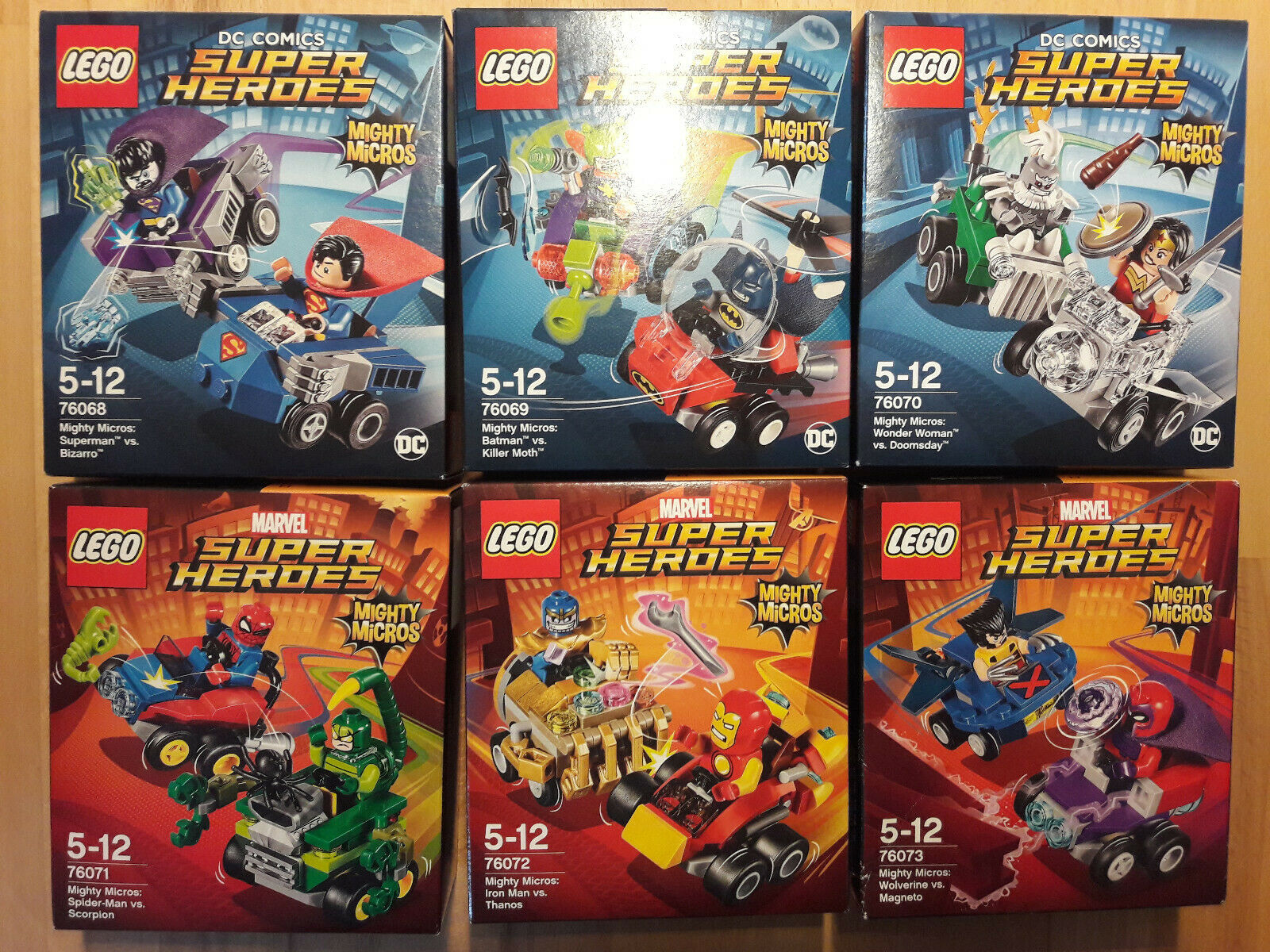 LEGO Super Heroes Mighty Micros Serie 2,76068, 76069, 76070, 76071, 76072, 76073