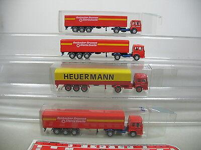 Ai682-1 #4x Wiking H0 Trailer Truck Soft And Light Rosbacher Well Lorry/truck Man