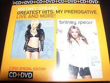 Britney Spears Greatest Hits My Prerogative CD & Live & More DVD Australian Set