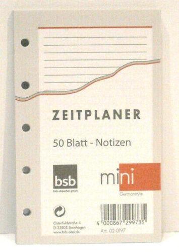 Einlagen A8 2020 BSB mini Ersatz 66 x 106 mm Kalender Zubehör ca